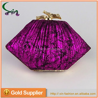 Fancy style wholesale handmade clutch evening gift ladies hand bags