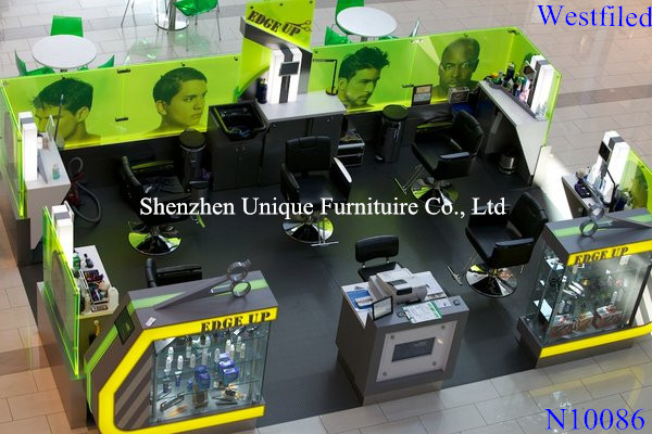 Westfiled Mall Newest Style stations hair salon furniture china,hair salon rack with led lights along the walls