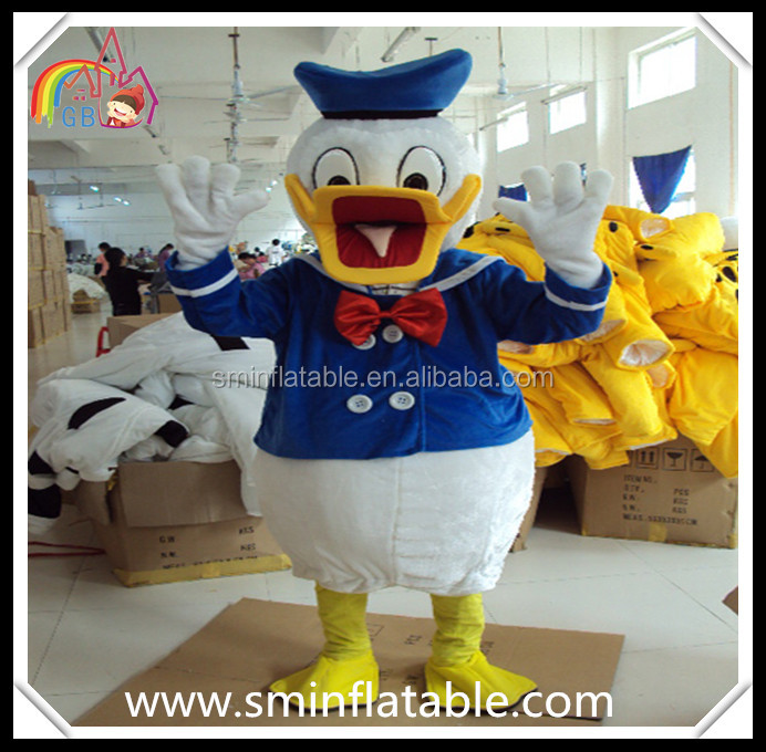 Donald duck mascot costume ,plush animal cartoon costume