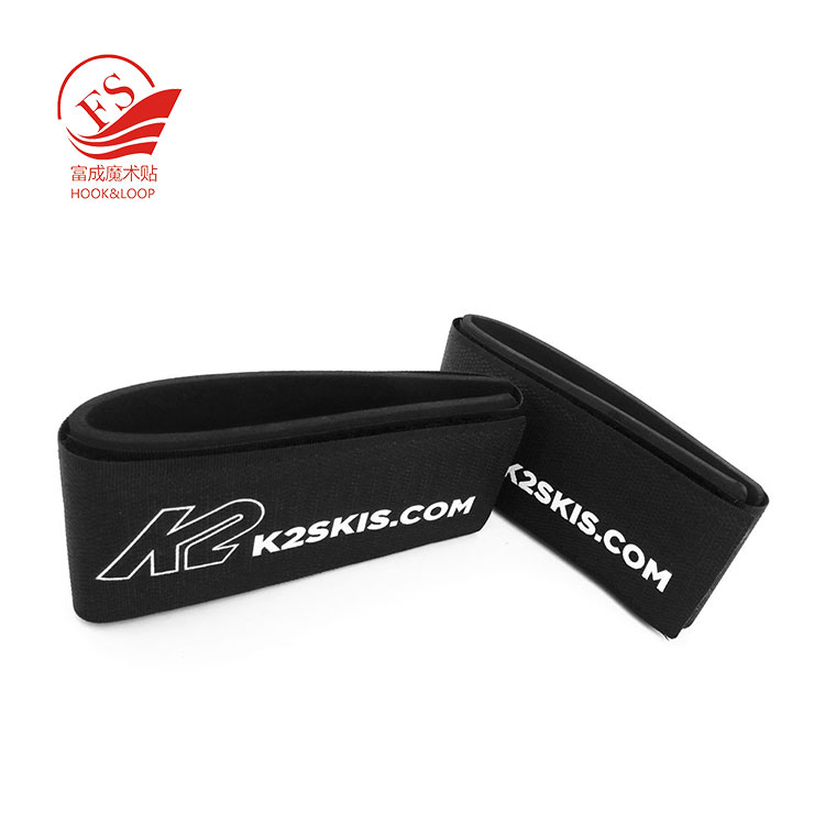 Hot popular magic tape wholesale ski equipment strap with logo