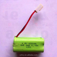 rechargeable battery pack 4.8v 600mah ni-mh aaa battery pack
