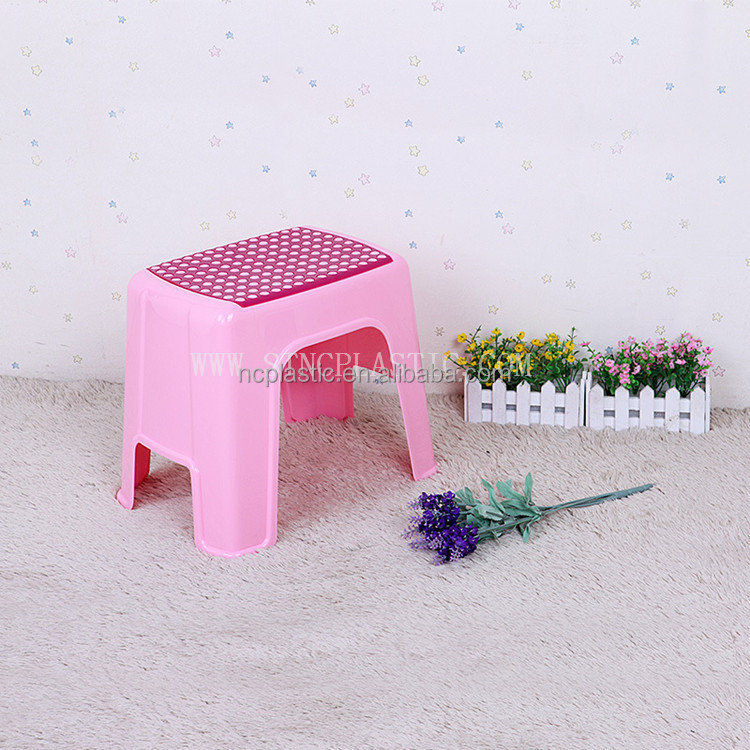STEP UP STOOL PLASTIC SEAT KID KITCHEN BATH TOILET POTTY TRAINING with Anti-Slip Surface
