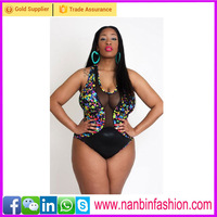 Black Flower Swimsuit sexy fat girl bikini photo