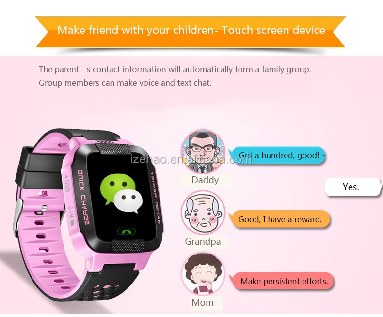 Children Smart Watch Y21 MTK6261 1.44inch 400mha SOS Call Location Finder Device GPS smart watch for kids