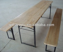 wood beer garden table and bench