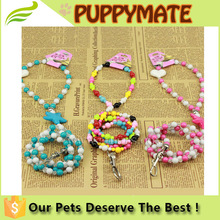 fashionable colourful acrylic beads dog leash for small dogs,pet dog leash