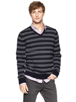 cheap striped pure cashmere sweaters for men