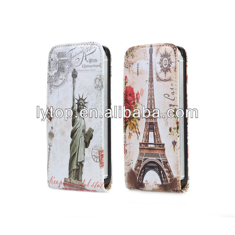 Retro Eiffel Tower Flip PU Leather Case For Apple IPhone 5c
