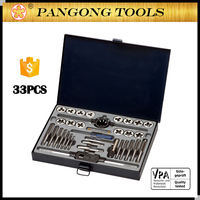 Free Sample Hand Tools Industrial & Mechanical Threading Tap and Die Set 33 Piece