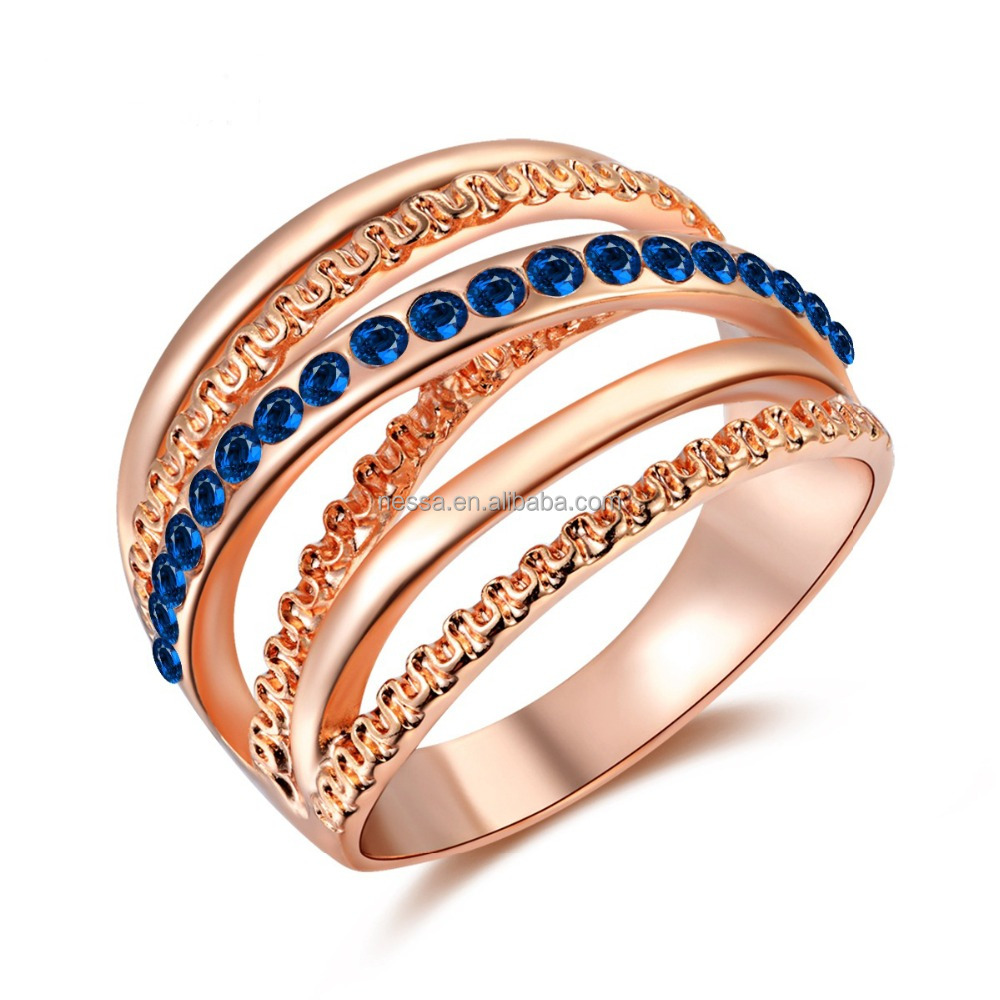 Fashion latest gold <strong>ring</strong> designs for girls Wholesale NSKN-0091