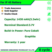 Best selling Digital cell phone Batteries li-polymer battery for iphone 4s Commonly Used Accessories factory price