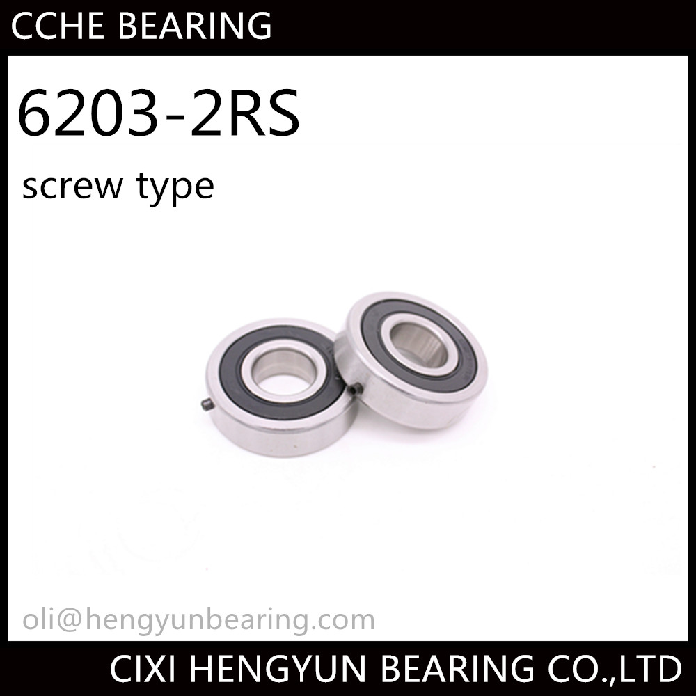 Deep Groove Ball bearing 6203 2RS with screw type