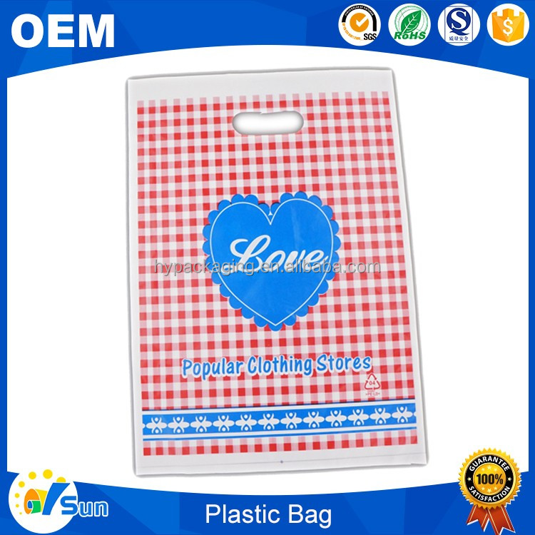 Fashion Design Holiday Shopping Use Custom Printed Water-proof PE Gift Bag