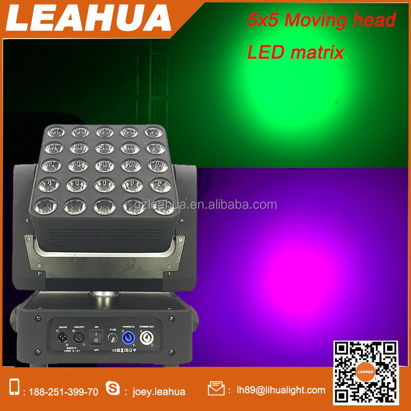 25x15w led beam rgbw matrix moving head