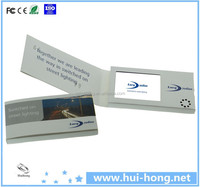 "Small A5 Soft Cover With 4.3"" Screen Invitation LCD Video Greeting Card"