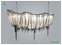 Decorative Indoor Metal Large Silver Chain Chandelier