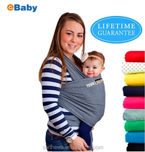 Manufacture direct sales baby sling carrier stretchy baby wrap carrier with cheap price