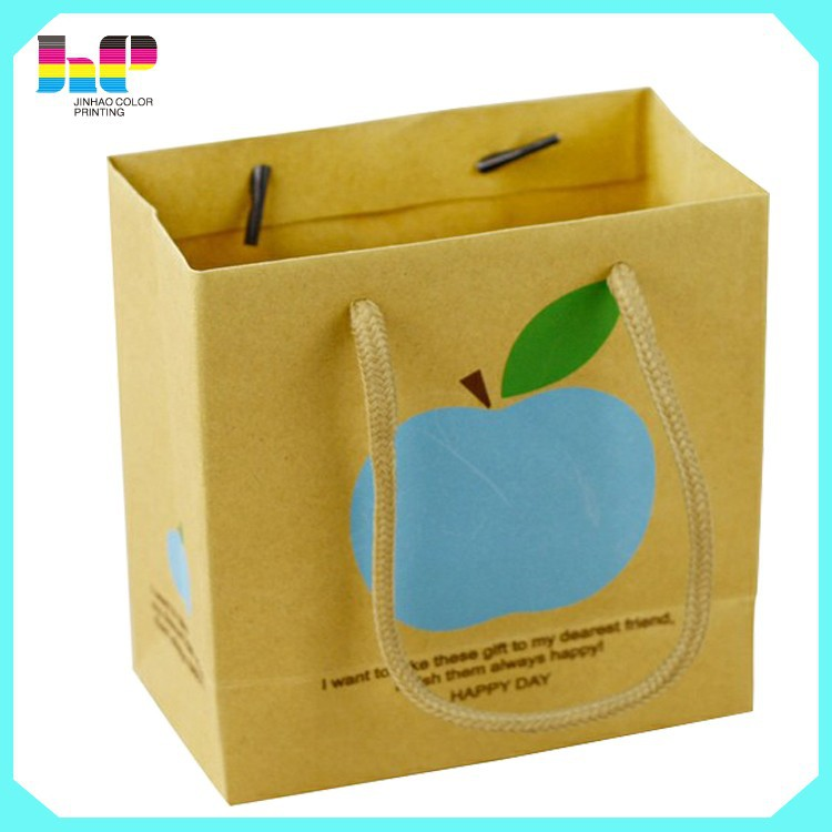 Custom Recyclable Advertising Paper Bag Printing with All Sizes