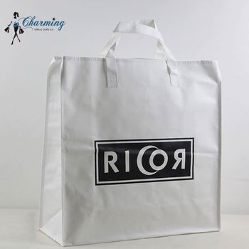 Newest sale attractive style white recyclable bag woven material