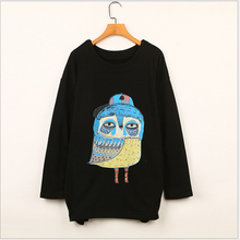 korean fashionable cartoon pattern cute girls bateing hoodies