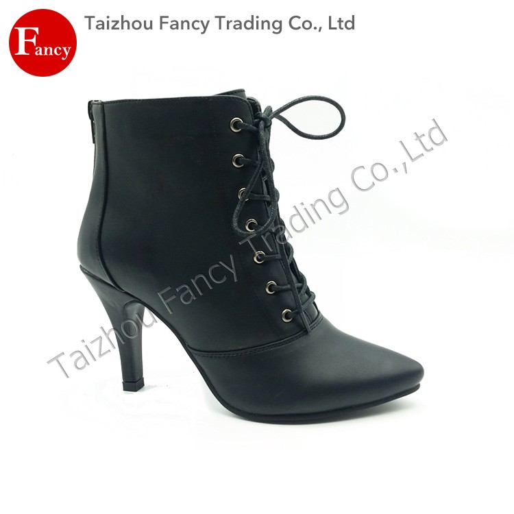 comfortable high grade breathable high heel ankle boots