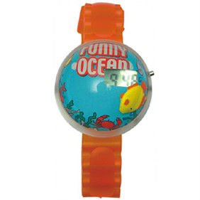 liquid filled bubble LCD watch