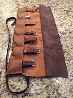 Surper Quality Soft Genuine Leather 2 Tone 7 slot Watch Roll Made To Order