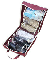 Online shopping pvc and non woven oem & custom shoe carrier bag