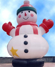 Huizun high quality custom inflatable cartoon/promotion snowman for event/advertising