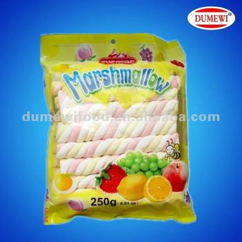 Long Sweet Twisted Colored Marshmallow