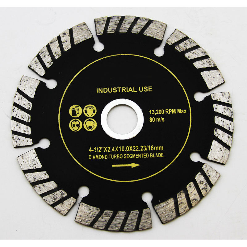 "Diamond Blades Turbo Sintered Segment 4-1/2"" inch 5/8"""