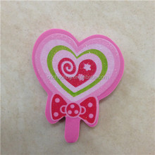 blingbling lollipop shaped 2d rubber eraser cute custom pencil eraser promotional gift school kids student eraser can print logo