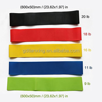 Superior High Quality latex gym bands resistance bands for ABS,Yoga,Pilates workout