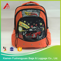 Kids boys cool school bag / child school backpack with car picture