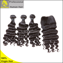 Silky and soft 100grams 8A virgin raw brazilian human hair wet and wavy bulk hair
