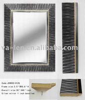 Plastic decorative Mirrors Modern Decorative Wall Hair Salon Mirror Station