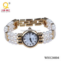 fashion classic jewellery ,genuine freshwater pearl hand watch women