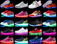 men women led flashing lighting shoes