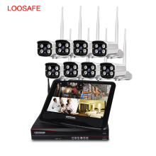 Wholesale 8 channel wireless nvr kit with display screen support 960P wifi ip camera