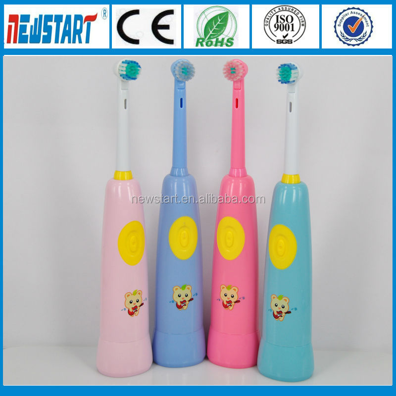 Round Soft bristle brush head Electric Children toothbrushes with timer, electric toothbrush for sale