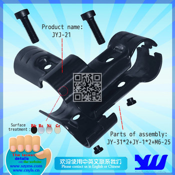 Large T black electrophoresis coated pipe joint for pipe rack JYJ-21