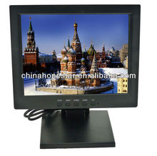 10 Inch LCD Resistive Touch Screen Monitor 4 Wire Square Display