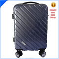 blue classic pc luggage set with Aluminium Trolley