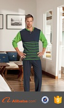 Free sample wholesale price knitted breathable man family pajama sets