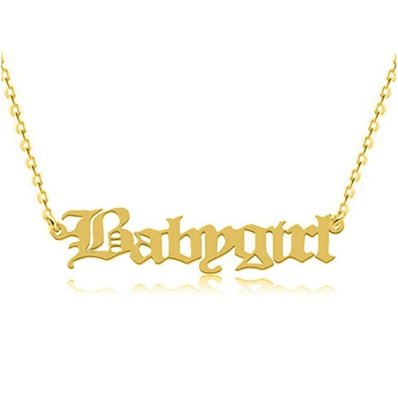 Personalized Custom 24K Gold Plated Corona Name Necklace Jewelry