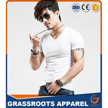 Men 95 Cotton 5 Spandex V Neck Bamboo Cotton T Shirts Wholesale