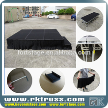 customized design 1.22*1.22 m school used portable stage aluminum folding stage cheap folding stage for bj band