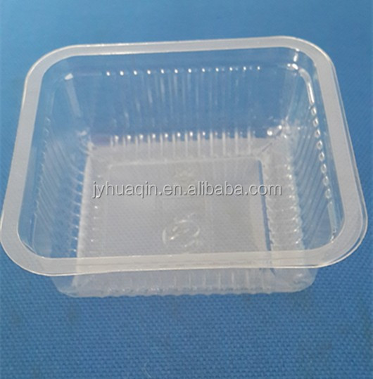 transparent disposable plastic dessert tray