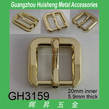 25mm Alloy made light gold color bag buckle