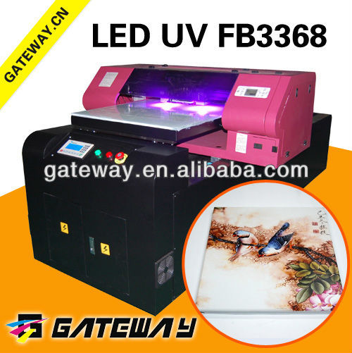 Flatbed printing technology, color printing direct to substrate, white ink printing 3d effect printer